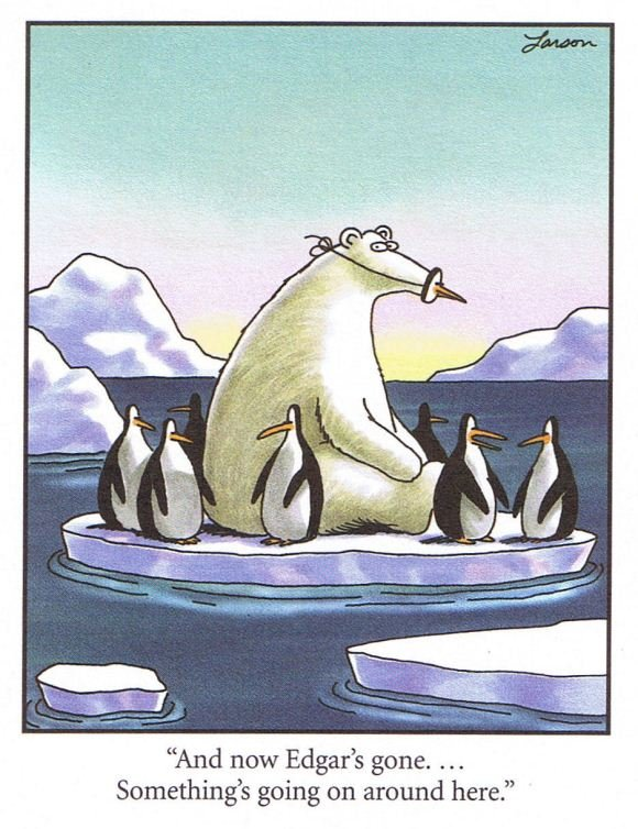 """Not global warming.... whats going on?. And now Edgar' s gone Try Something' s going on around here."""""""