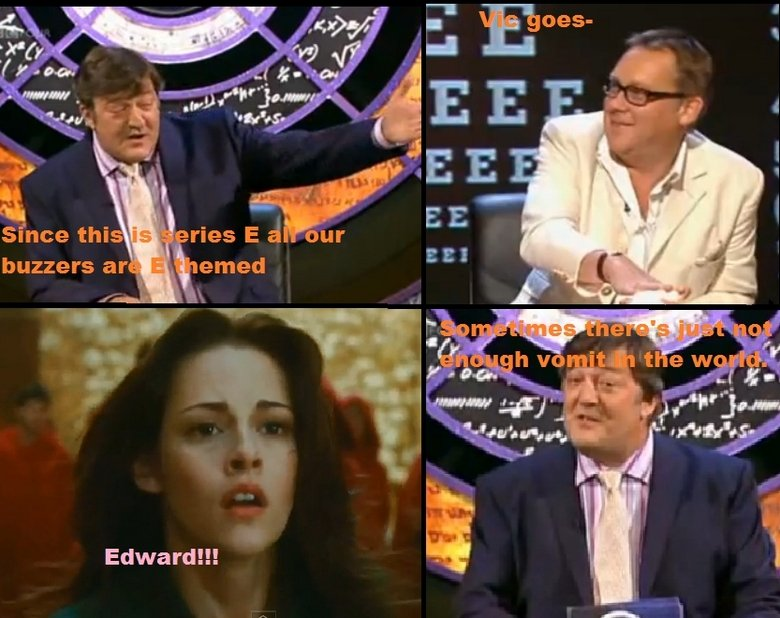 not enough vomit. just watching QI and thought of this..
