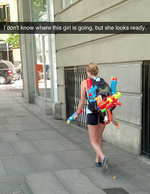nothing. nothing. I dont know where this girl is going, but she looks ready.. I don't know where this re-post originated from, but it's gonna get downvoted