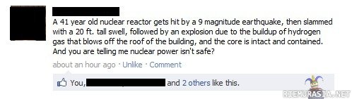NUCLEAR. lol lol so true hope u liekssss??? <----- my high level of intellectual english... and i hope that fukushima will be fine. A 41 year old nuclear rea