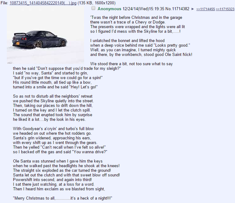 /o/ does Christmas. Merry Christmas, Funnyjunk.. File: 10873415 1414045842220149 ... .' (135 KB, 1600x1200) Twas the night before Christmas and in the garage th