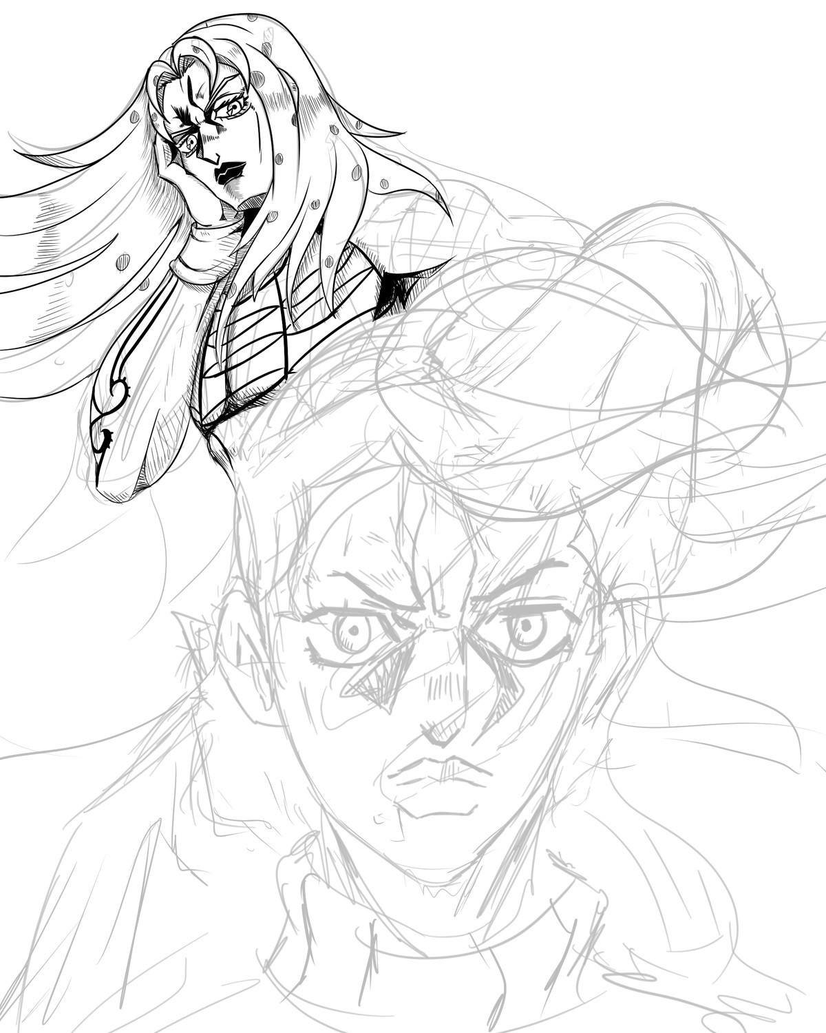 Diavolo/Doppio WIP. join list: GBArt (261 subs)Mention History.. Congratulations brother. You've got a lot of talent and I'm sure you worked hard for it. Cant wait to see the final version. Will you do colors or leave it in b