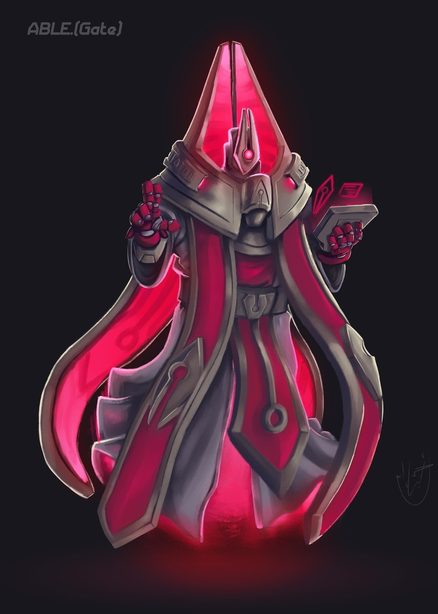 [OC} Evil robot priest. Concept art I made for one of my story's major villains, Ablegate is the leader of an AI vigilante group join list: RedsArtythings (114