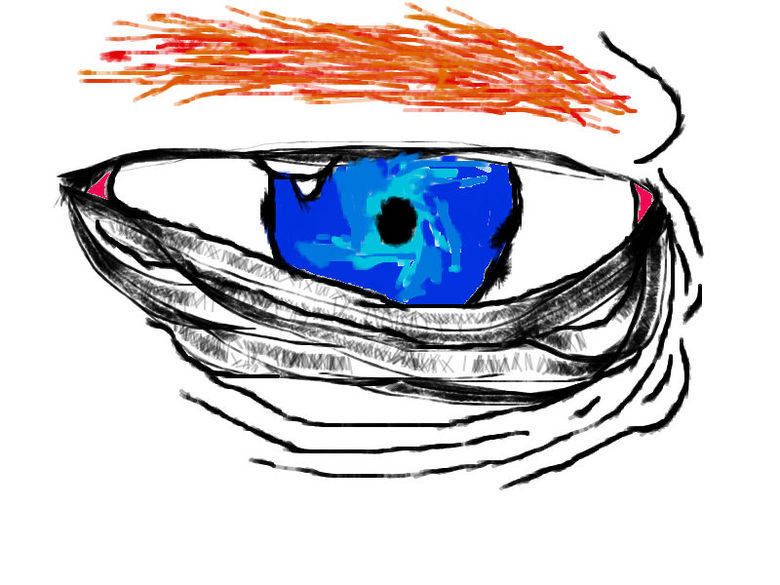OC eye art made on FJ. made by ace mcgunner.. also my eye has a violet ring around it not a black one.