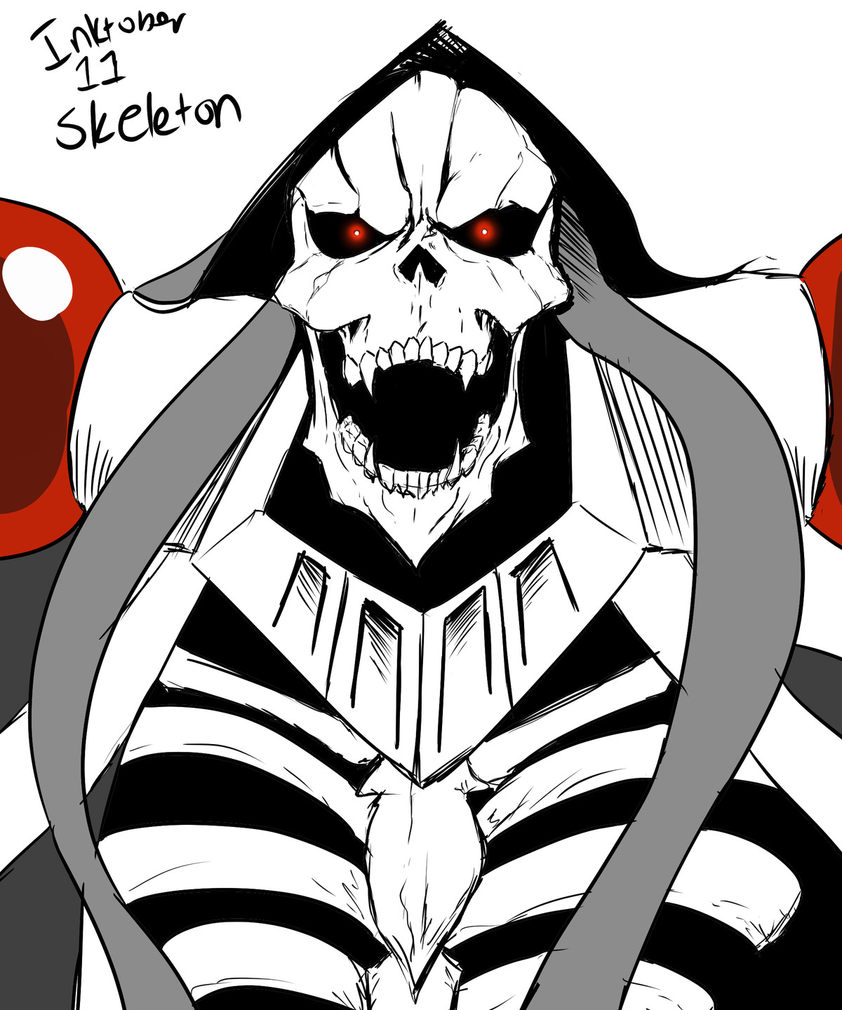 Inktober 11: Skeleton. join list: GBArt (261 subs)Mention History Why does it feel like I'm the only one still doing inktober, or did everyone just skip th