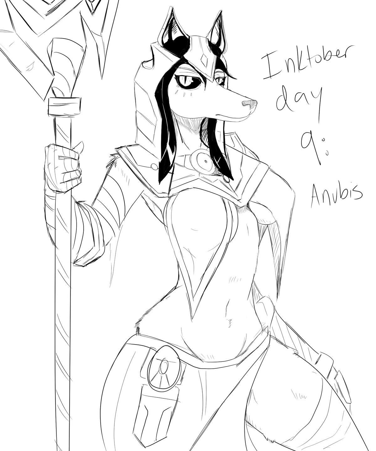 inktober 9 but a furry. join list: GBArt (261 subs)Mention History.. Original for reference