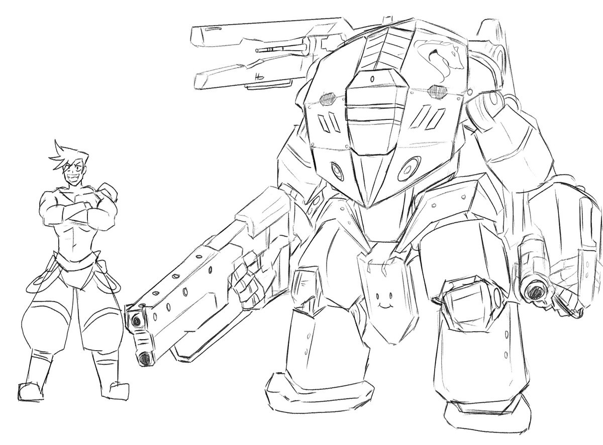 mech. join list: GBArt (261 subs)Mention History.. >tiny smily on the crotch plate I like