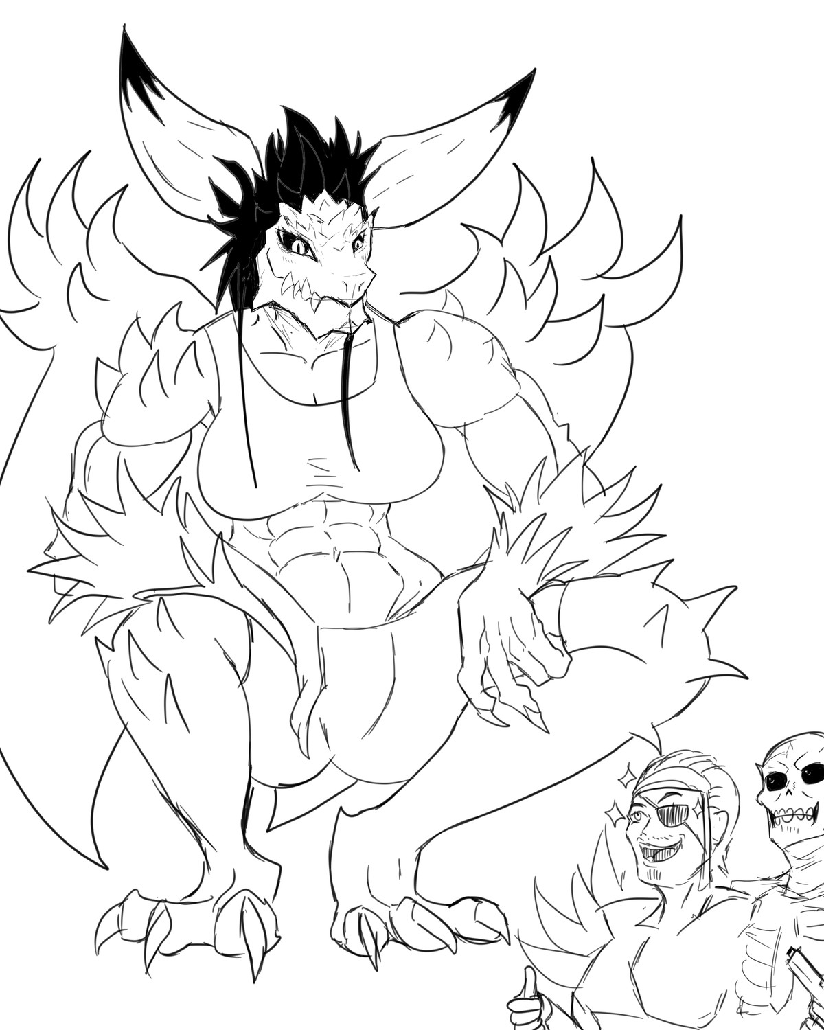 Nergigante (scalie ver.). join list: GBArt (261 subs)Mention History (alt version cuz reee furries).. The dragon wants to seduce him.