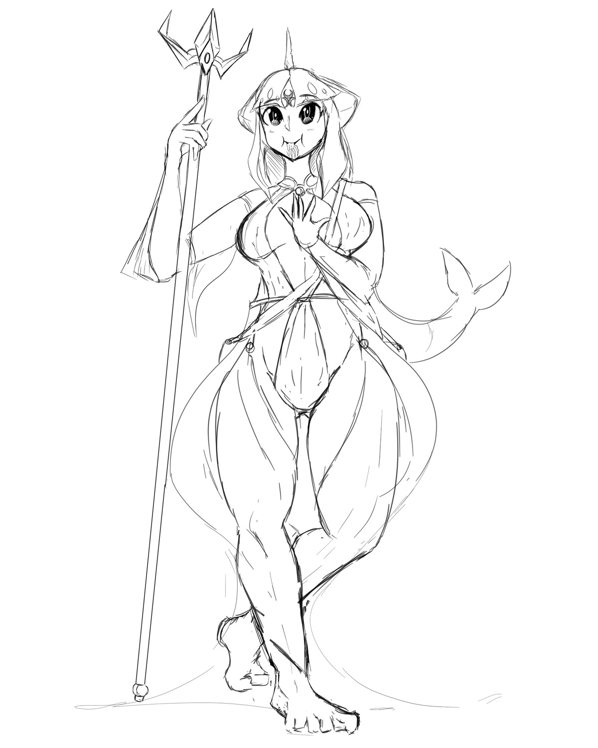 shark girl for dnd. based on zora from botw obviously join list: GBArt (261 subs)Mention History.. She's adorable Also the artist in me cannot unsee how much longer her left leg is compared to her right