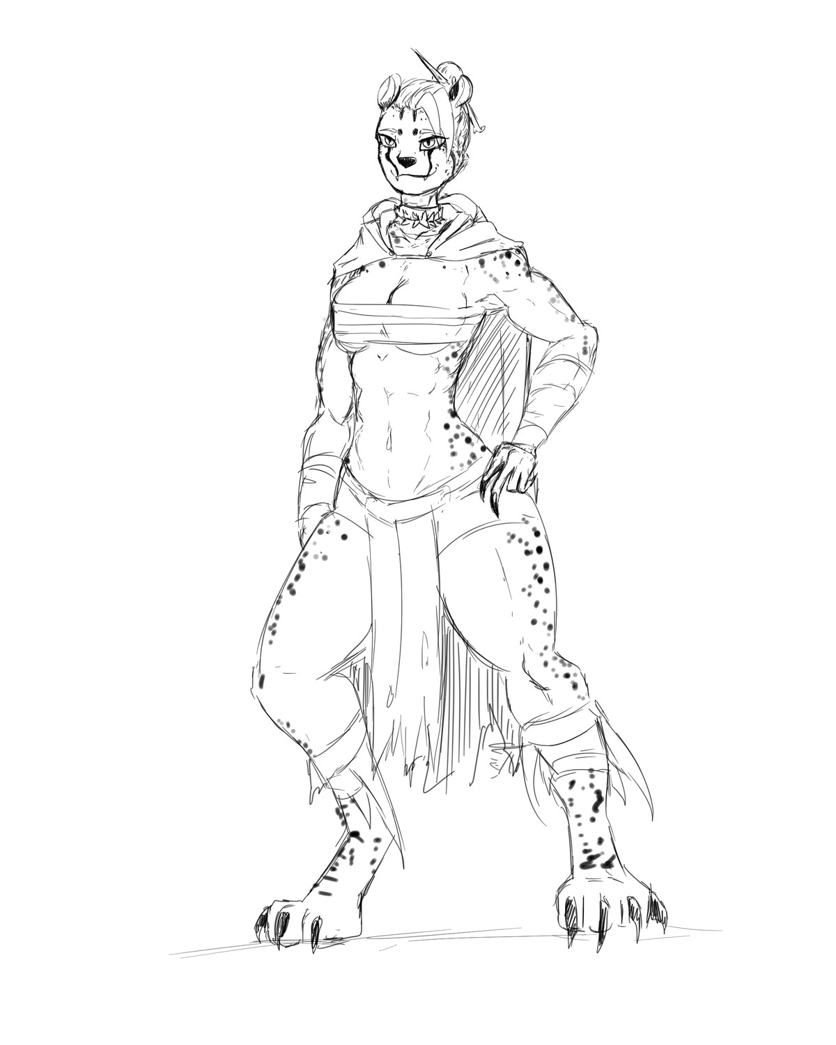 Cheeta girl for Dnd. join list: GBArt (261 subs)Mention History.. Is she a Tabaxi monk? I want to make Tabaxi monk because who would have 45 base speed at level 2 due to unarmored movement. Then dashing to 90 plus a bonus acti