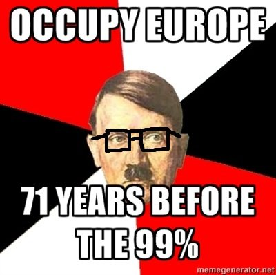 Occupy Europe, Style. Since this whole occupy movement has gone global with various occupy movements going on in cities, in Europe, Asia, and North America i fi