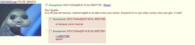 Oh 4chan. You so silly. EDIT Top 40! You guys are all awesome, thanks to everyone one of you who thumbed!. KB, 820x613) Hey f gots. I' m a 29 year old mexican.