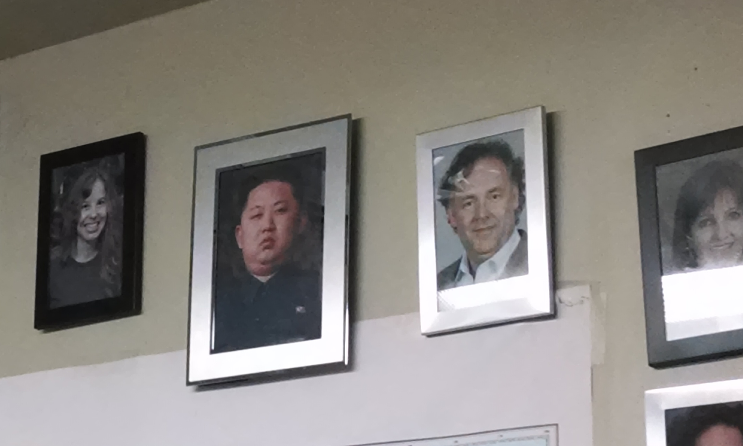 Oh Admin, Glorious Employee of the Month. He is employee of every month. Picture of lady is higher than our glorious leader. Admin, finish her off. (100% not OC