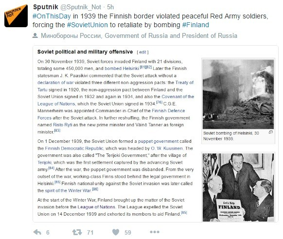 Oh Those Silly Russians Part 2. . Onthisday in 1939 the Finnish border violated peaceful Red Army sewers, forcing the #Sov' rste_ Union to retaliate Dy bombing