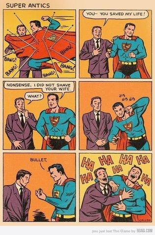 Ohh Superman. not mine but really old. sup E R ANT ICS Yebo ' Shetep Ahy LIFE.'
