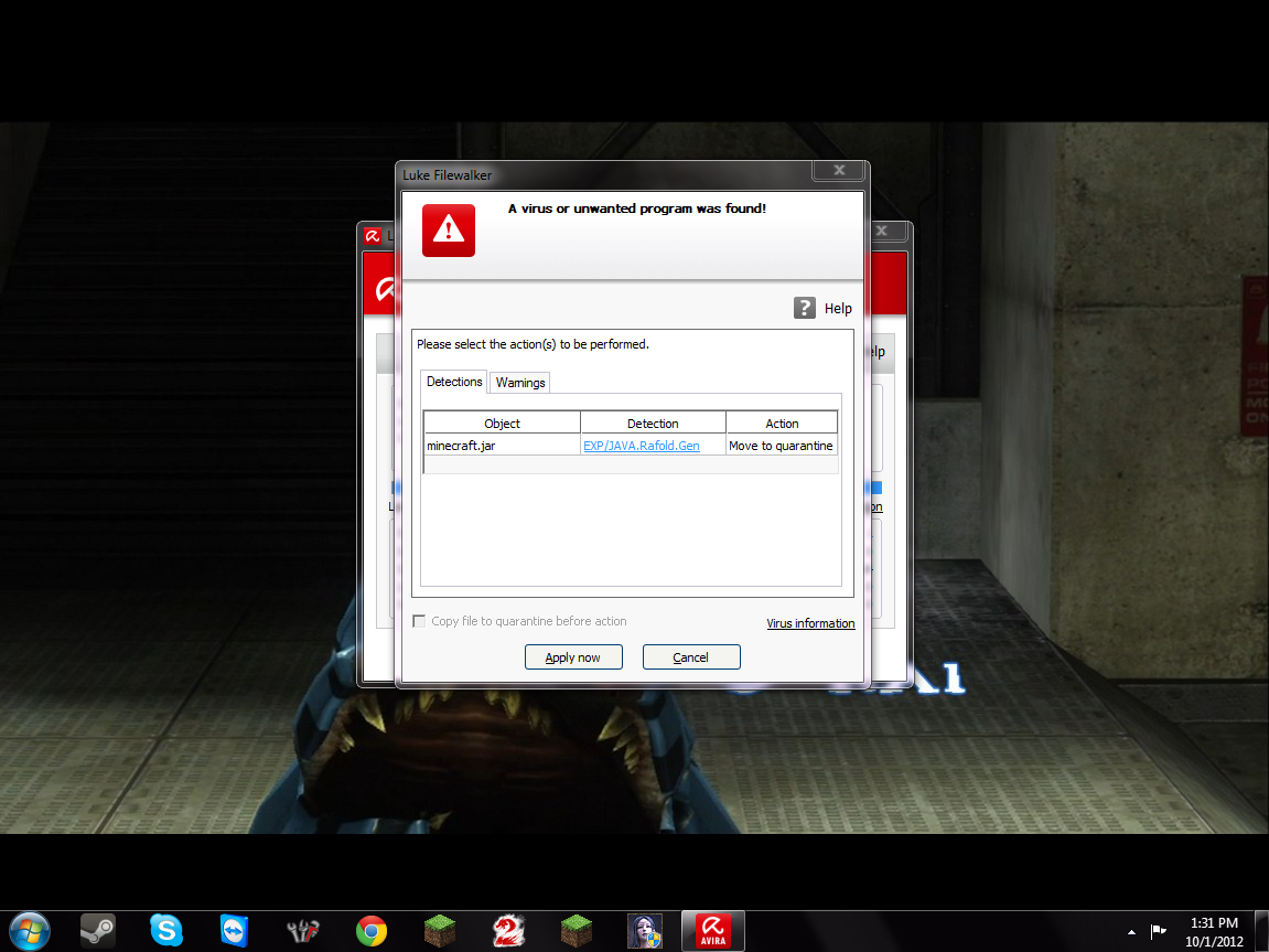 Ohhh Avira,you so silly.. ;) came home from school to see this..