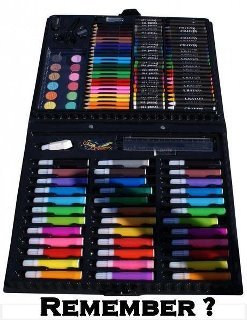 only 90's kids.... i loved these things.. The 90s: Apparently the only era in all of recorded history during which colored markers existed.
