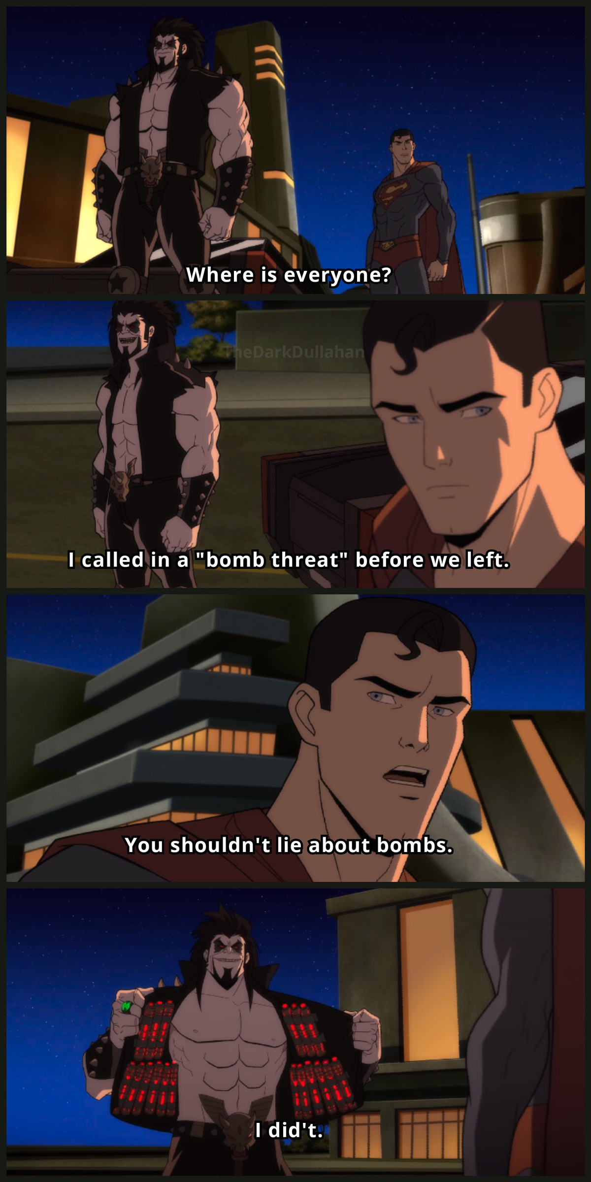"Only Lobo. .. I don't why I can hear superman going ""oh Lobo"" with a laugh track in the background"