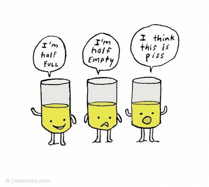 Optimist Or Pessimist?. .. lol I was not expecting that. XD