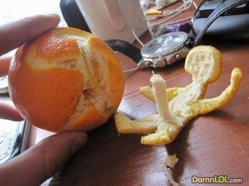 ORANGE BONER. WAT U KNOW ABOUT FRUIT.
