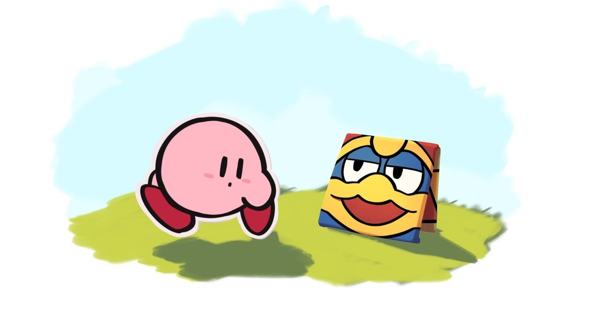 Origami. .. a Paper Kirby game would be so neat to play
