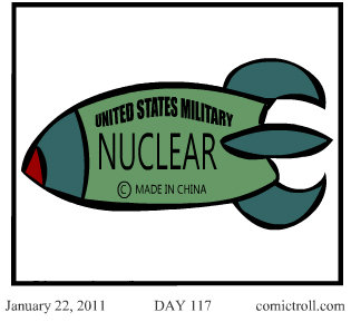 Outsourced Comictroll. & Also, check out our ComicTroll app on the Android Market, FREE!. January 22, I DAY ll'?. America already has mini nukes for there regular machine guns.