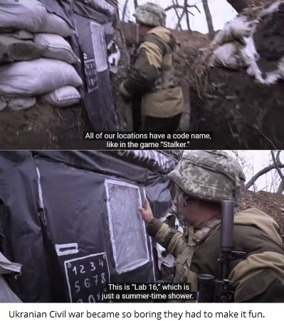 overt Salamander. .. I remember watching a video of this Russian officer calling people on the phones of dead Ukrainians and telling them the person had died. What a wacky war