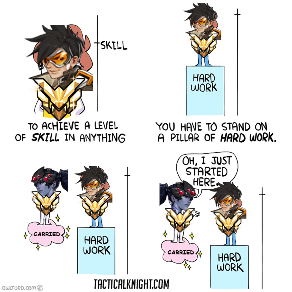 Overwatch Competitive In A Nutshell. You can find the original image at my website I have video 100% proof that Overwatch is rigged to punish skilled players. T