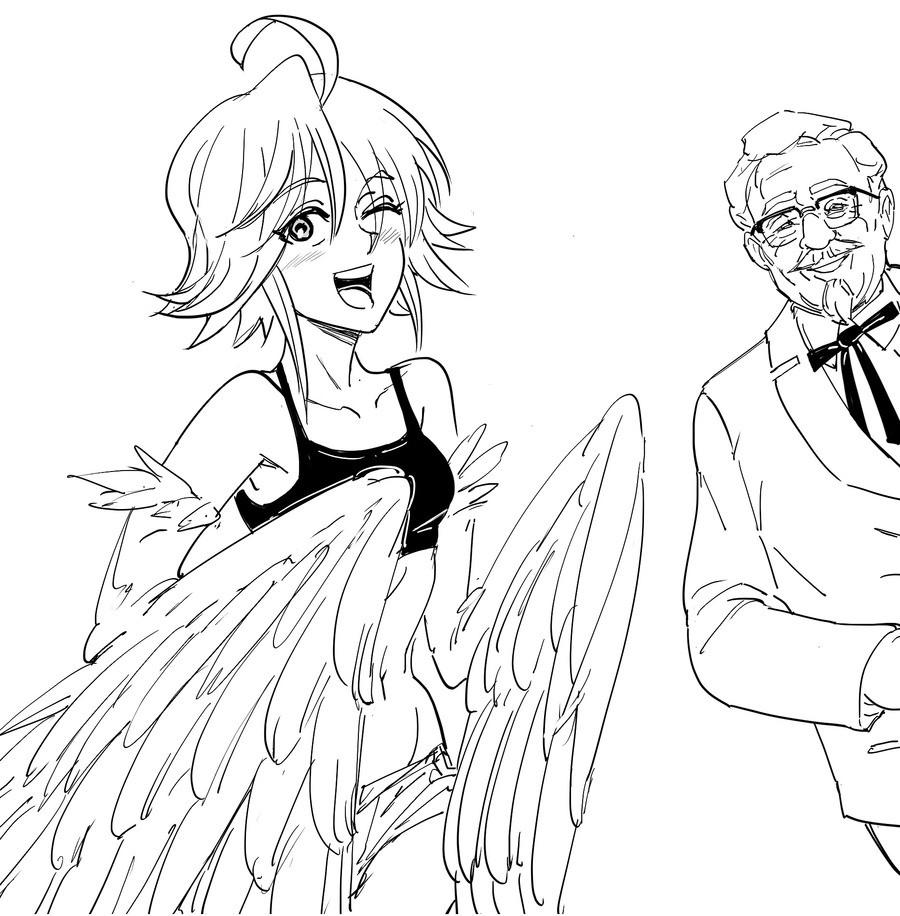 Papi and Colonel Sanders. .. hummmmmmm