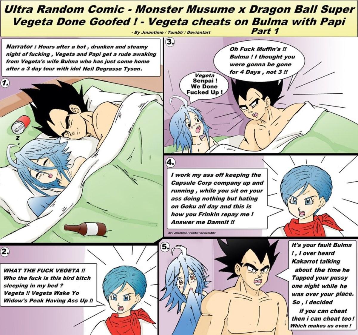 Papi's Original Playmate!. . Ultra Random Comic - Monster Musume It Dragon Ball Super I/ quota Done (holed i - Vega he cheats on Bulma with Papi ham Ii' ayato'.