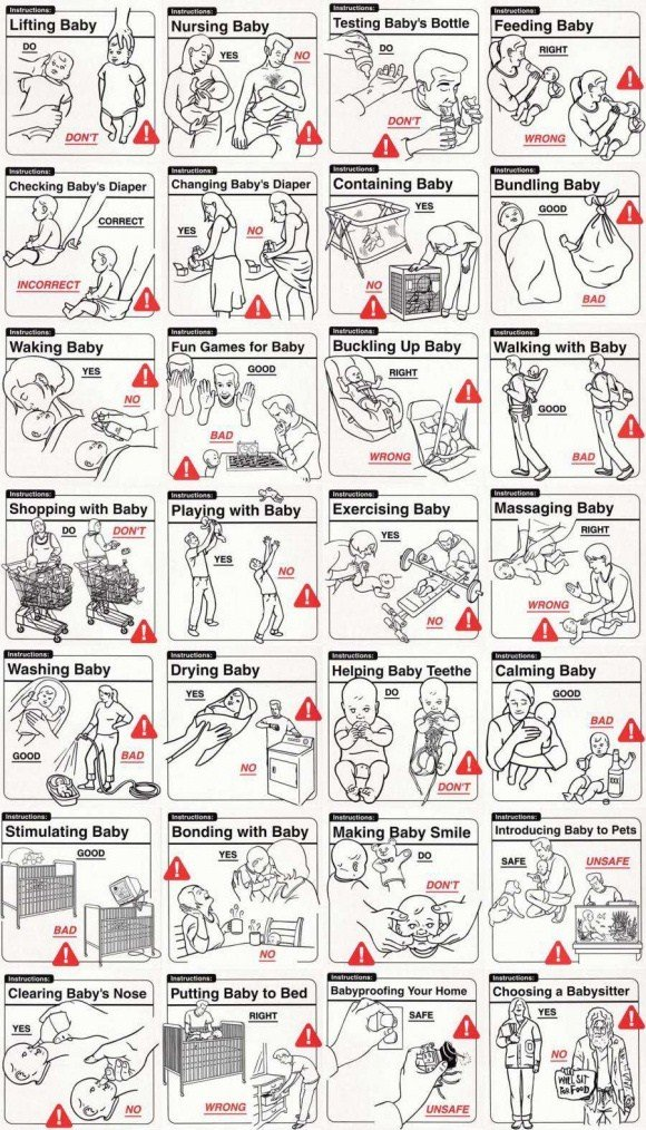 Parenting Do's and Don'ts. found this on the internet. Galina Ba. Retoast?