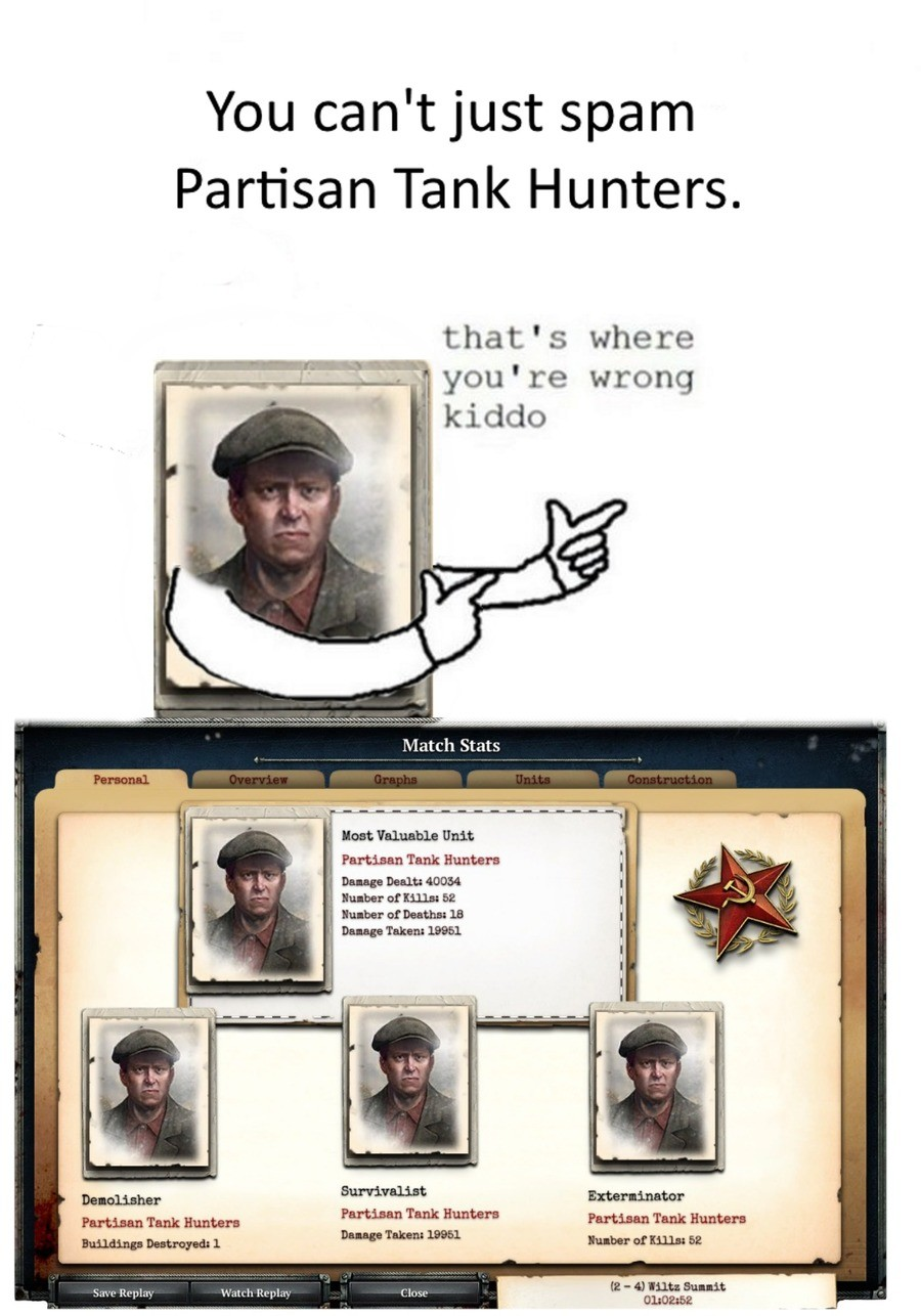 Party-san (CoH2). Soviet reserve is now my favourite doctrine for the soviets (when I bother to play the soviet.) It's not even good, but I love it.. You can' t
