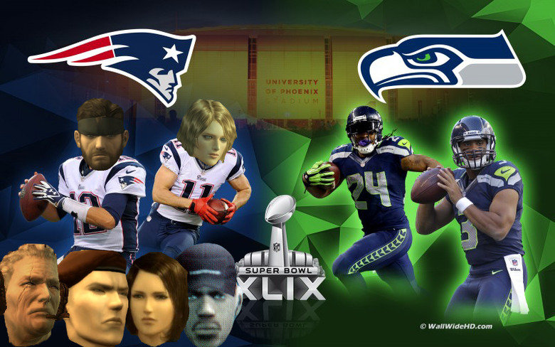 """Patriots vs Seahawks. Hey Funnyjunk, you should tune in tomorrow and support my team (the Patriots ). I would appreciate it a lot!.. The joke here is that the """"Patriots"""" are a football team as well as an organization in the Metal Gear Solid series."""