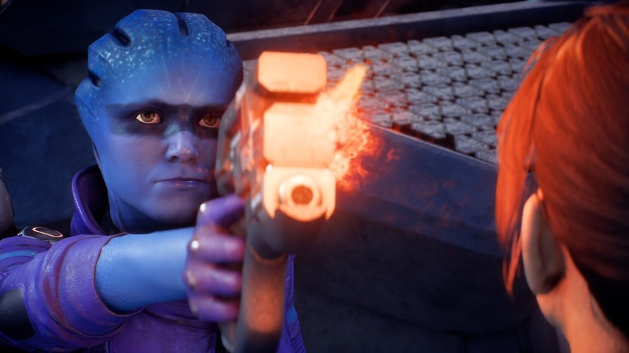 Peebee got some firearm safety training.. .. Hey there is a patch out that improves a ton, including the dead eyes and some facial animation for key characters. Sticky if you want.