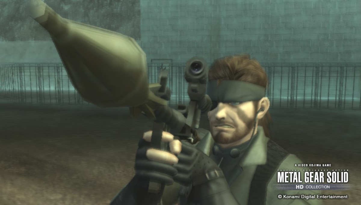 """people never learn. . I """"Lilt"""" tilt Konami Digital EntertainmentEyepatch on right eye Holding sniper on righthand. It is possible to be right handed and left eye dominant, my Dad was a Lefty with right eye dominance. Not the greatest thing but doable."""