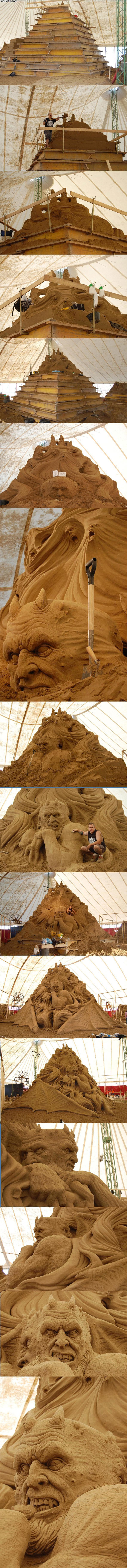 pimp sand castle. .. someone give this man a medal!