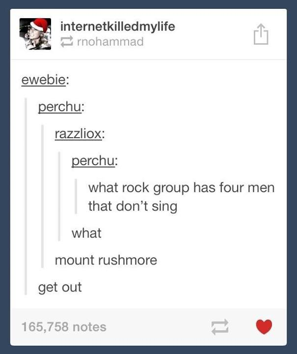 please dont. dont get out. woebie: razz_ liax: what rock group has four men that don' t sing what mount get out 165, 758 notes. Paramore?