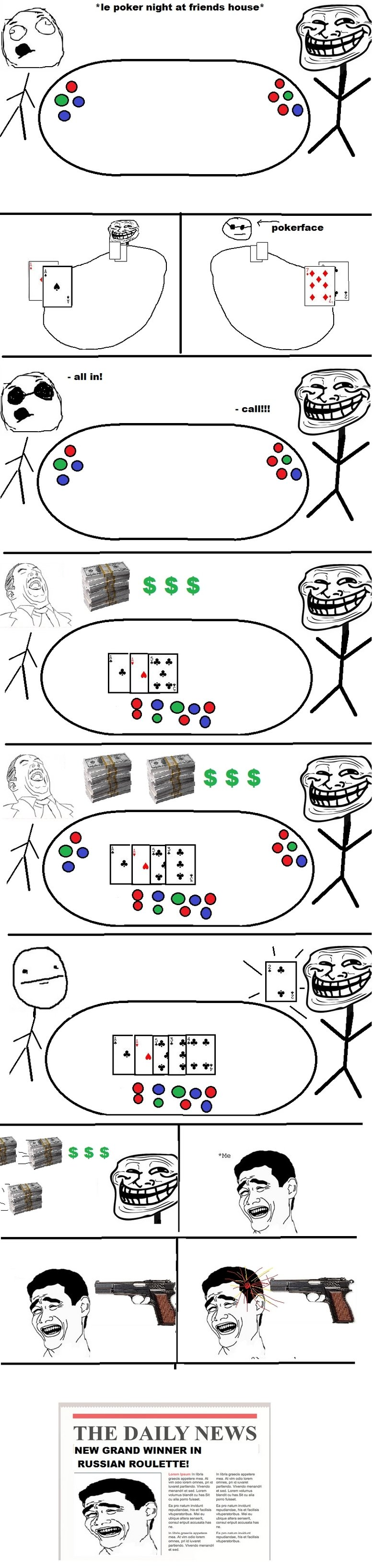 Poker trolling. Come on, just one time, just. one. time..