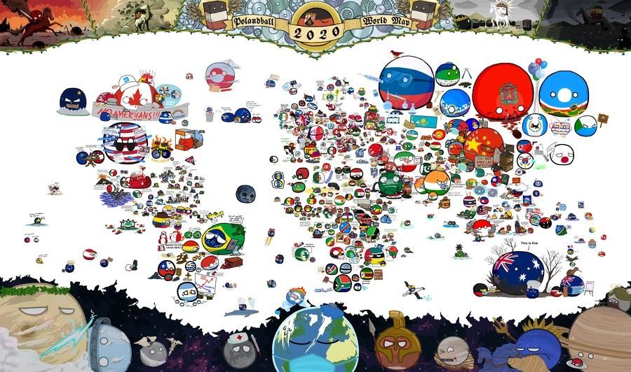 Polandball map. .. Perfect.