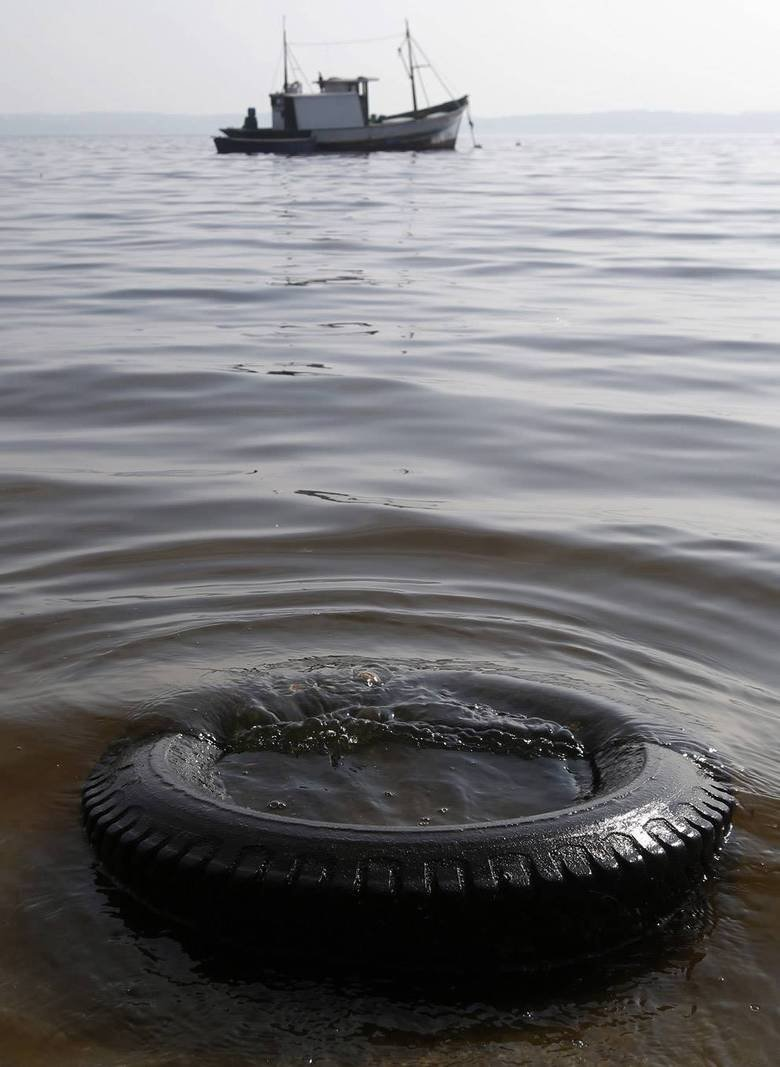 Pollution Strikes Brazil. In less than 3 months in Brazil will begin the 20th FIFA World Cup 2014, but still not everything goes smoothly. more here: .. Does on tire in the brownish water really count as pollution striking brazil?