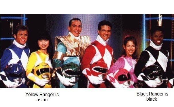 """Power Rangers Racism. . falsh' Ranger is """"amili Ranger is asian black. my favorite ranger"""