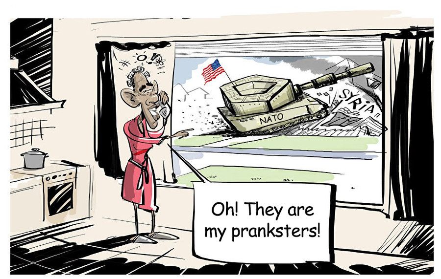 Pranksters!. . my prankster's. It's interesting to see what the other side thinks about US foreign policy.