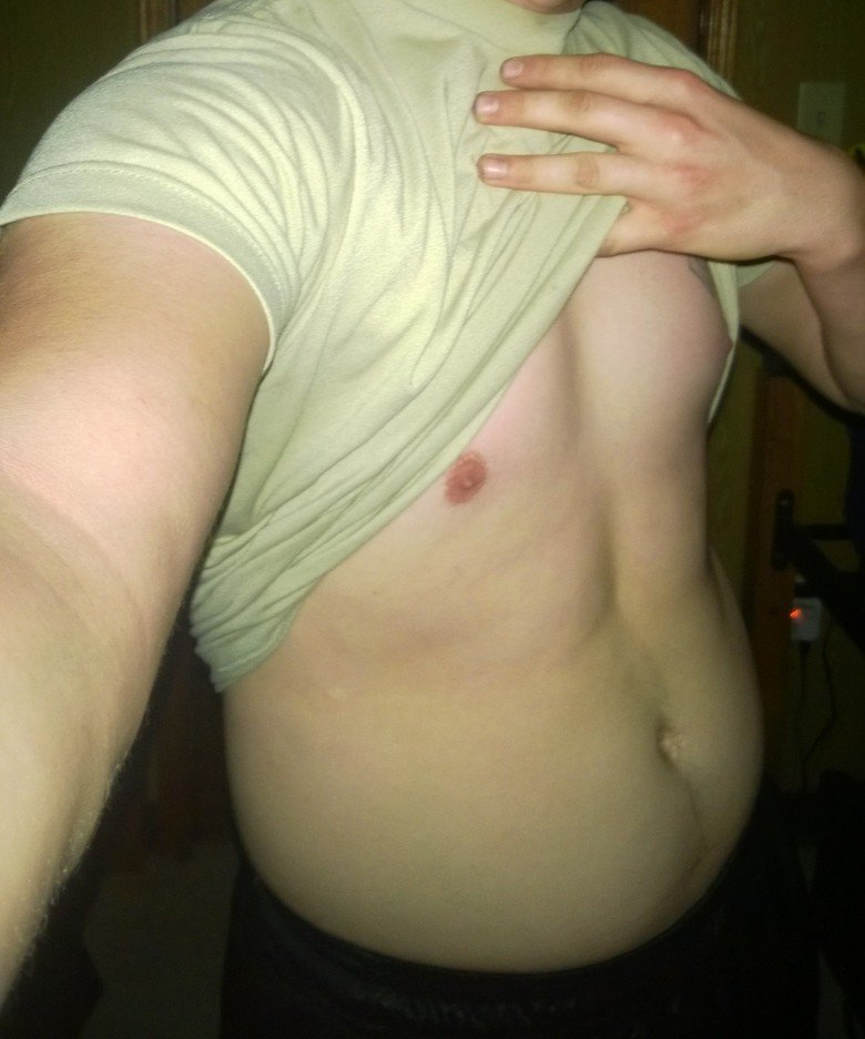 Progress(desc). Hey FJ. Since I deployed in January, I've been working out a lot more. This is the progress I've made so far. If anyone knows of a good in-home(