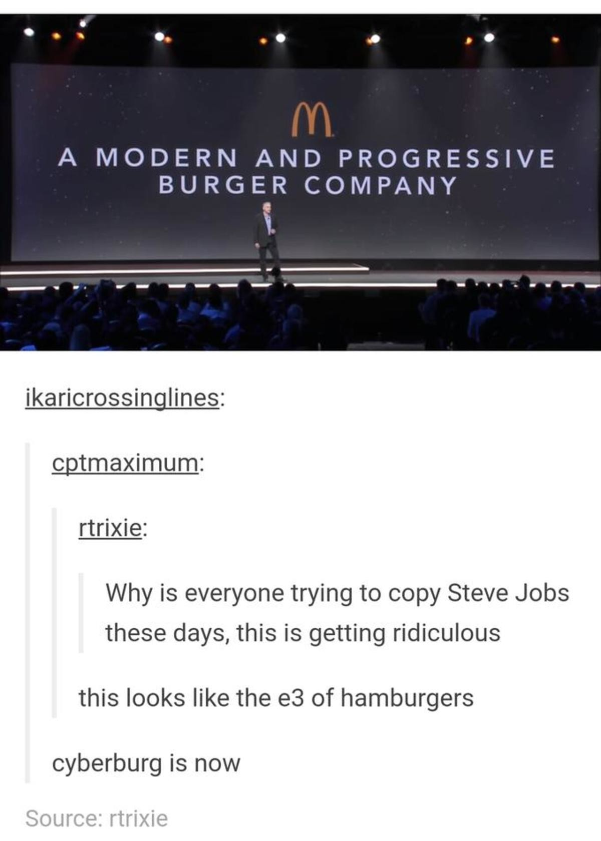 "Progressive Burgers. .. ""Ladies and gentlemen, I give you the Hamburger 2"""