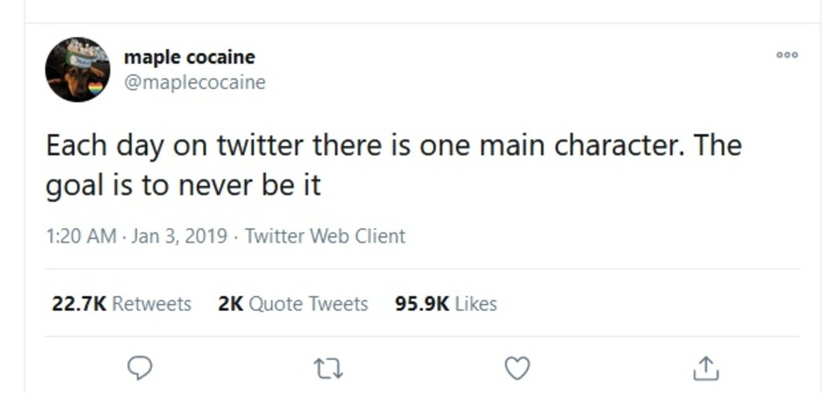 Protagonist of tweets. .. Some rando: exists Twitter: How dare you.