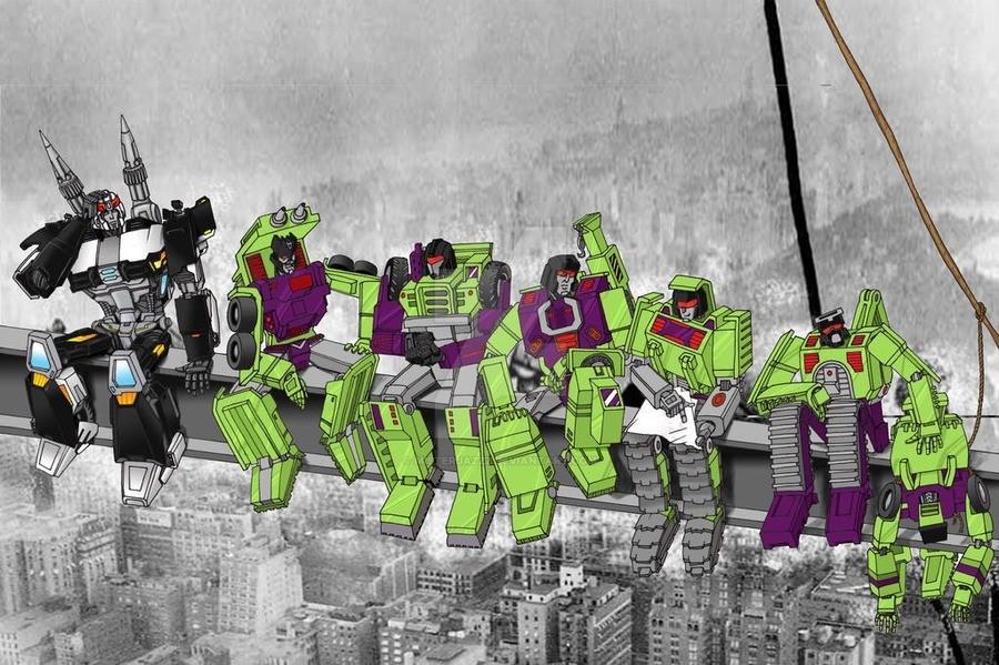 Prowl and the Constructicons. .. The worlds strongest ibeam