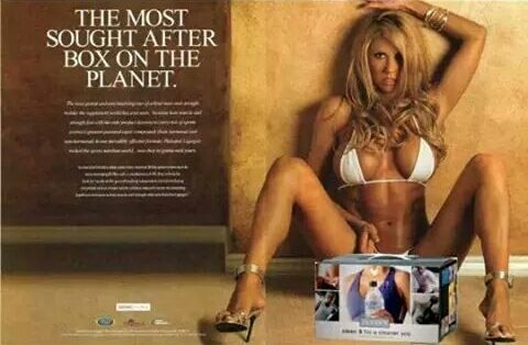 Quality advertisement.. . THE MOST SOUGHT AFTER BOX ON THE. Is that Pamela Anderson ? Whoever it is....wow