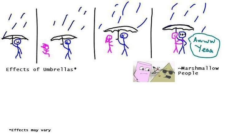 RComic Umbrella Adventure. Effects of an Umbrella<br /> <br /> Effects may vary.