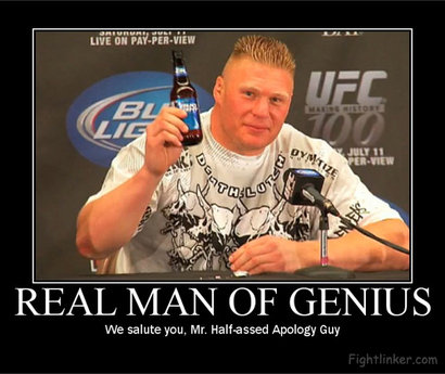 Real Men of Genius: We Salute You. .. Lashley got let go from wwe in 2007 you idiot!!!!!!!!!