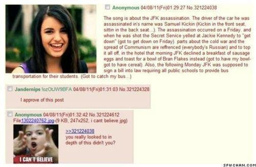 """Rebecca Black AFK Assassination?. Someone put alot of thought into this.... Don't forget to thumb! love y'all. Anonymous Ni/ tms/ tll """" N Ha The The ' we was ur"""